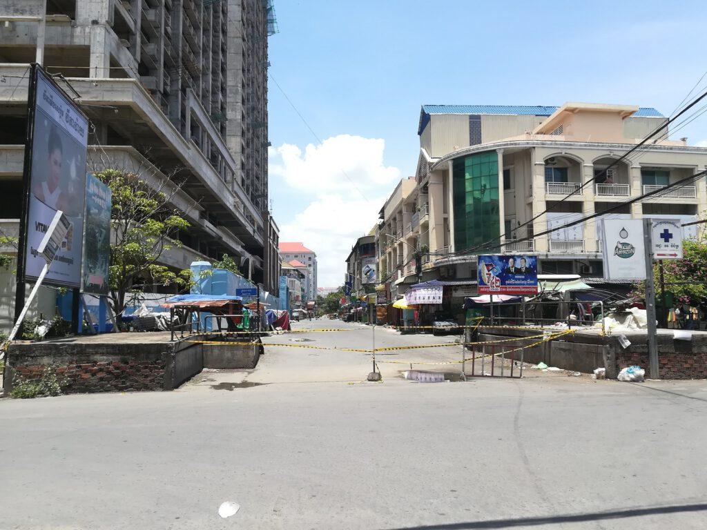 Eine weitere Sperre in Phnom Penh während des Lockdowns